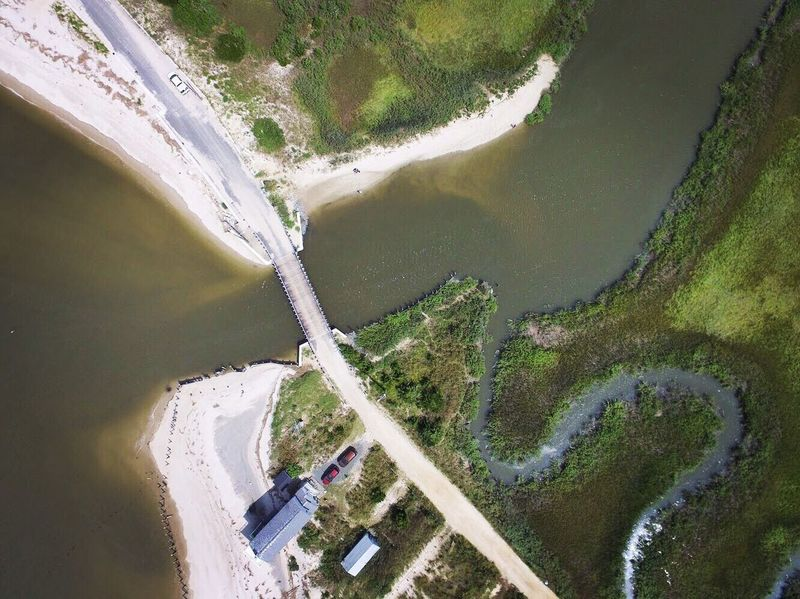 Water High Angle View Dam River Hydroelectric Power Nature Aerial View Day Fuel And Power Generation Scenics Sand Curve Built Structure Outdoors Beauty In Nature Road Physical Geography No People Flood Landscape Fortescue Drone Photography Phantom 3 Fortescue Bay New Jersey