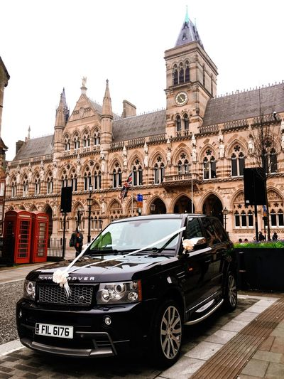 If I got married in #Rangrover I will keep drive and keep the bride wait Northamptonshire Northampton Church Uk Ancient Yaseenalhendi Cars Carlover Carlovers Randrover Landrover  LandRovers Politics And Government City Police Force Clock History Car Clock Face Clock Tower Architecture Sky