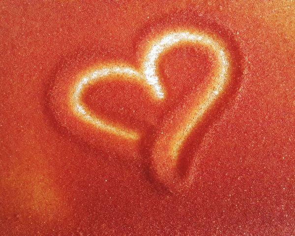 Heart Love Send Sentimental сердечко рисунок на песке Sand Art Sand