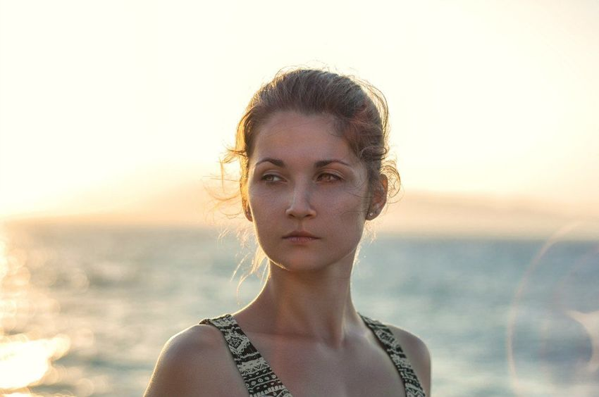 One Woman Only Only Women Headshot One Person Front View Adults Only One Young Woman Only Young Adult Adult Portrait Sunset People Outdoors Beautiful Woman Day Beauty Young Women Standing Human Body Part Sky Greece Crete