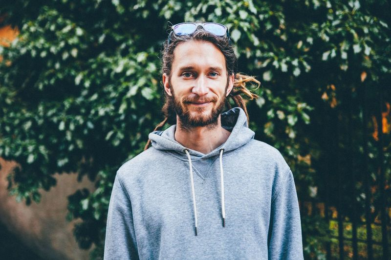 Day Dreads Front View Handsome Man Person Portrait Smile Young