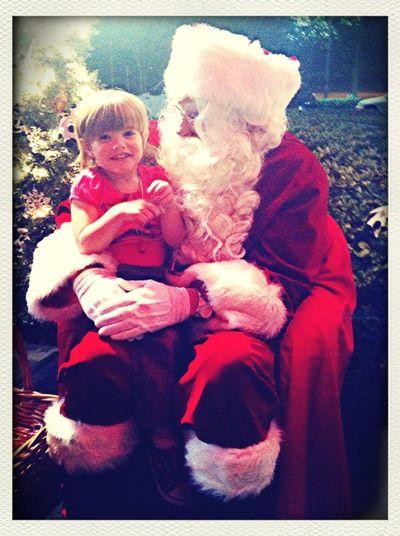 Maggie Telling Santa She Wants A Pink Bike:)