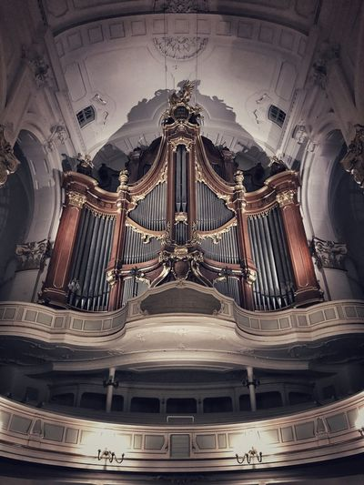 Church Organ Music Pipes Organ Church Architecture Indoors  History No People Arts Culture And Entertainment Low Angle View Day Stories From The City