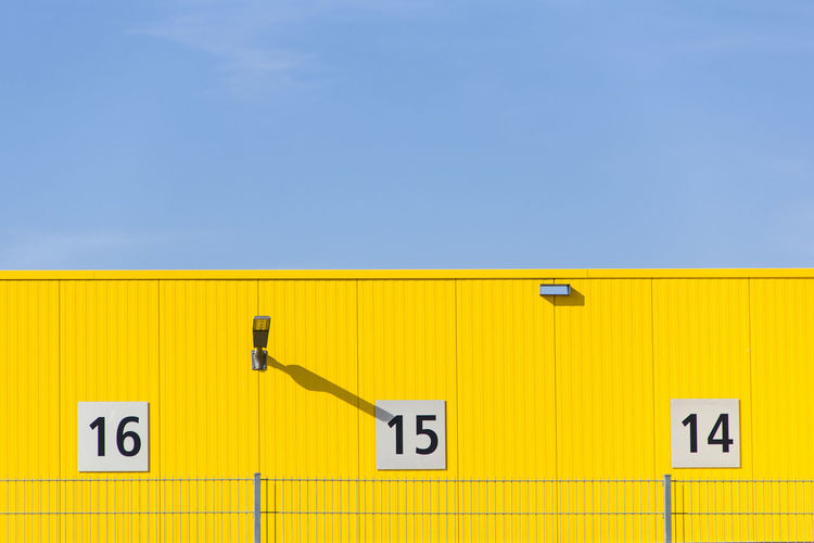 15 Blue Composition Contrast Countdown Fifteen Minimalism Numbers Simplicity Yellow