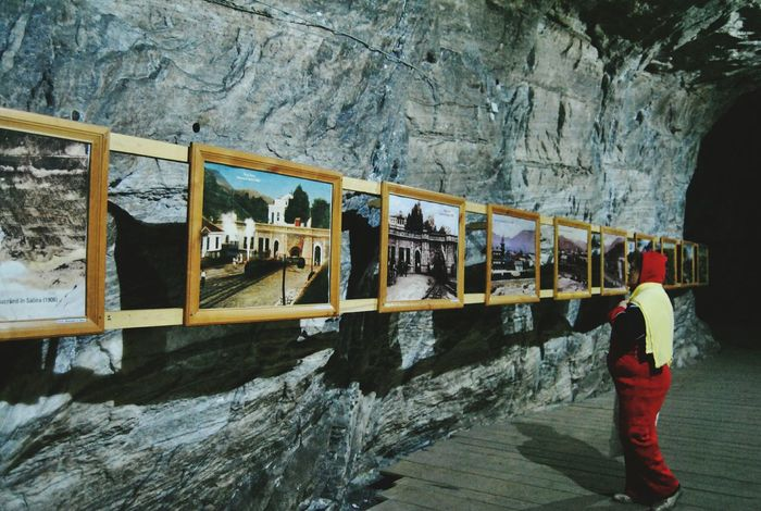 Woman In Red Saltmine  Hystorical Place Picture In Picture Pictures Tell A Story Romania_places