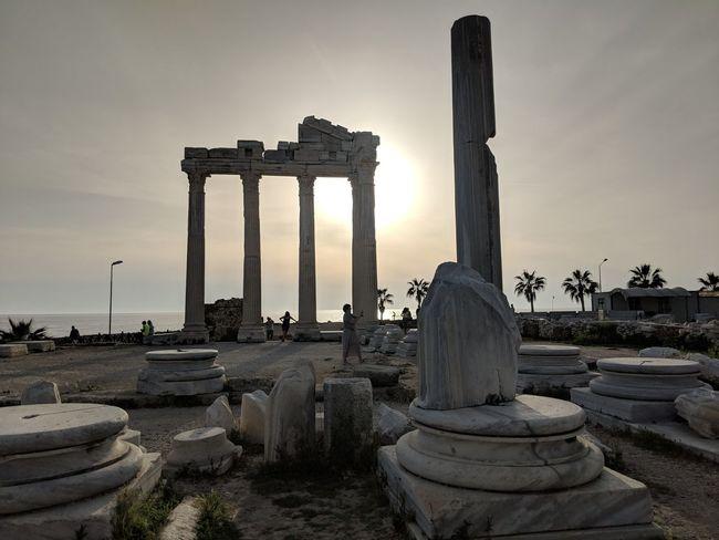 Apollon ancient site, Side Turkey April 2018 Ancient Civilization Architectural Column Old Ruin Ancient History Monument City