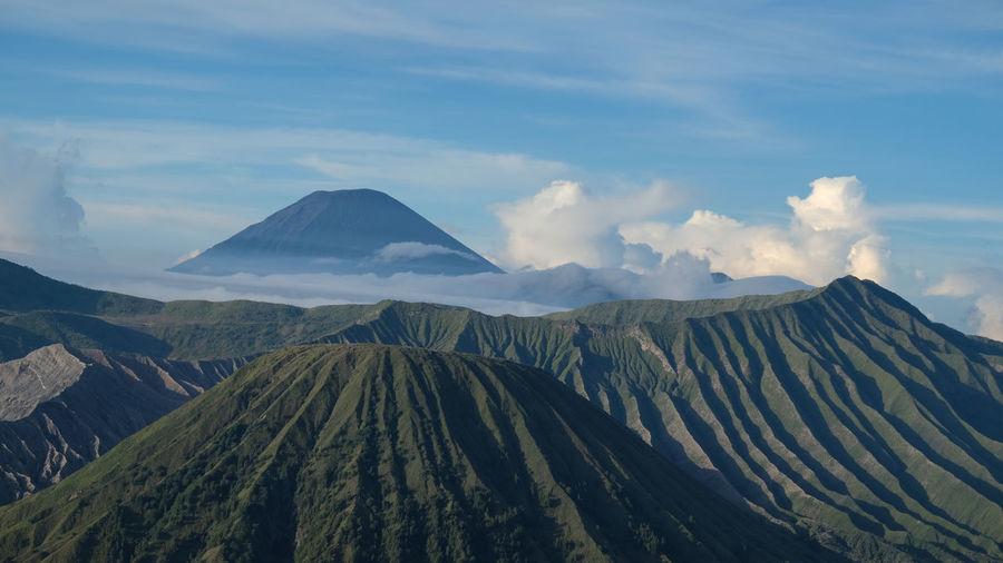 Mount bromo, batok and semeru, east java indonesia.