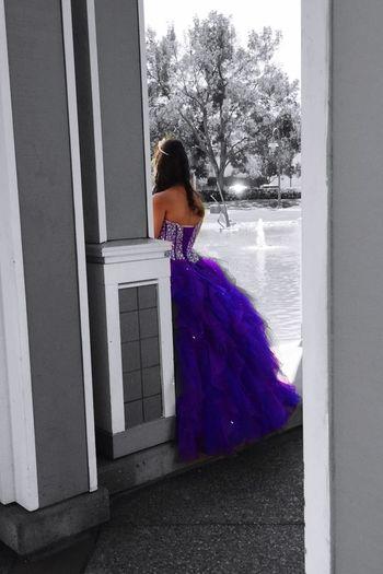 """Purple Princess II"" The Street Photographer - 2015 EyeEm Awards Quinceañera Purple Dress:) Purple Streetphotography Fashion"
