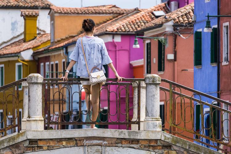 Woman in village