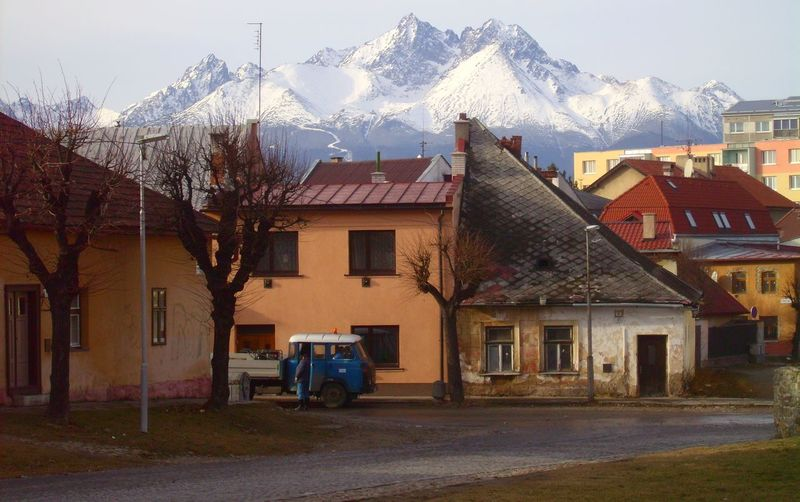 Architecture Building Exterior High Angle View House Old House On The Road Old Village Slowakia Tatra Mountains Town