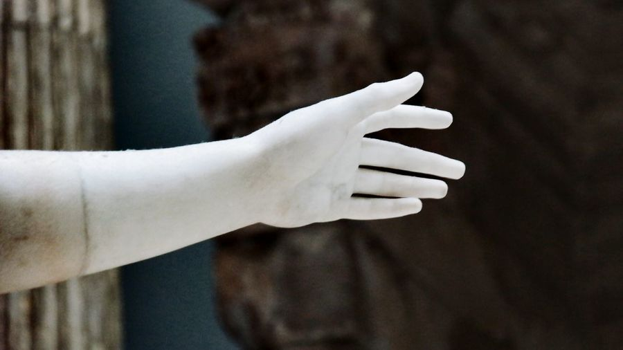 Close-up of mannequin hand