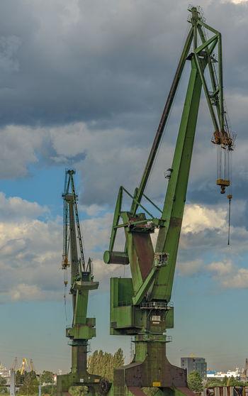 Port cranes in gdansk