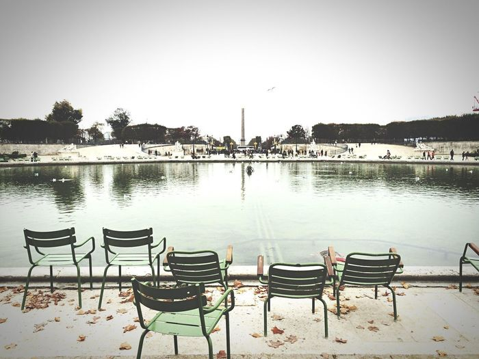 Chair Paris Park Empty Taking Photos EyeEm Water IPhoneography Iohone 5s