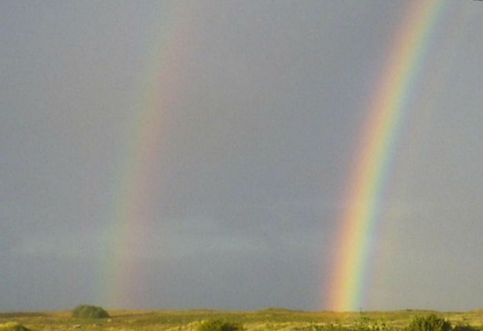 Nature Grass Sky Rainbow Doble Rainbow No Tricks, No Edits Beauty In Nature Nature Reserve Farsund, Norway Borhaug Lista <3 Landscape Norway