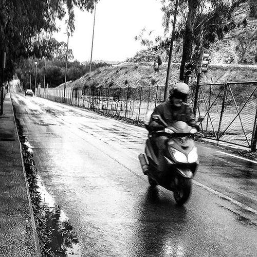 Moped man Streetphotography Blackandwhitephotography Monochrome Mono Bnw Bnw_maniac