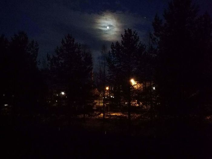 Moon Nightsky Finland_photolovers Moonlight City Nightpics Nightpictures