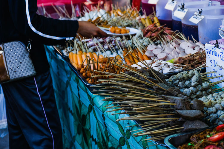 Full frame shot of food for sale at market stall