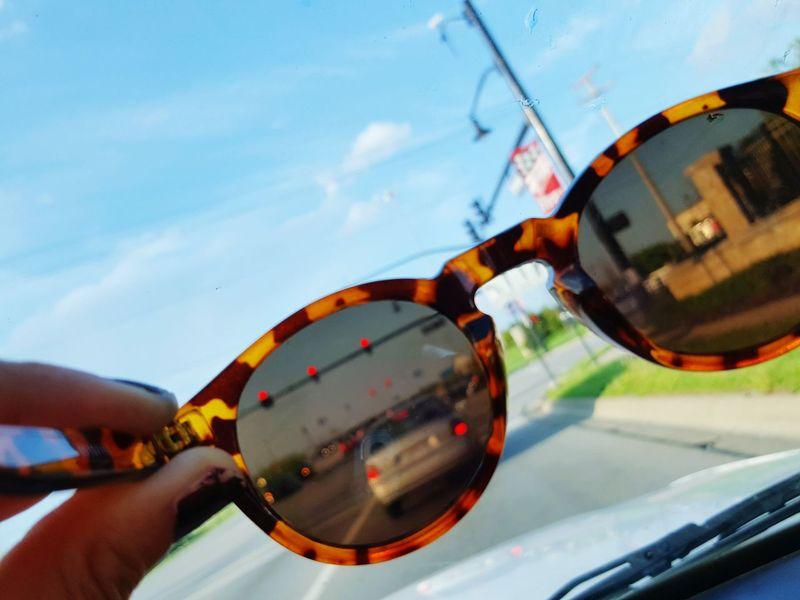 Sunglasses Sun Grove City, Ohio Street Through My Eyes Hello World Tint