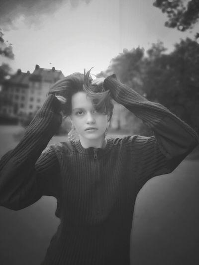 Portrait of girl standing