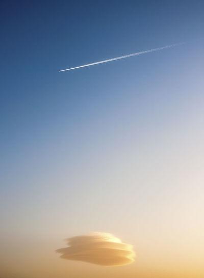 Vapor trail in the sky