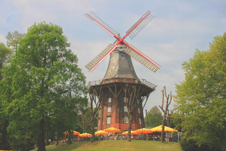 Windmill Wind Power Wind Turbine Alternative Energy Traditional Windmill Social Issues Environmental Conservation Sky Architecture Mill Historic Weaving Furnace Molten Loom Building History