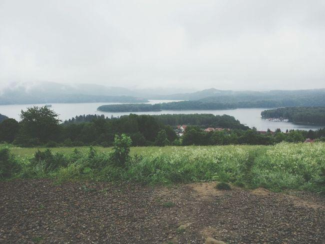 Mountains Lake Foggy View