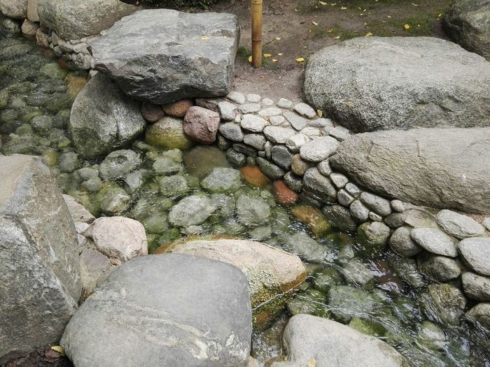 Water Stones Asian Culture Garden Flowing Water The Purist (no Edit, No Filter)
