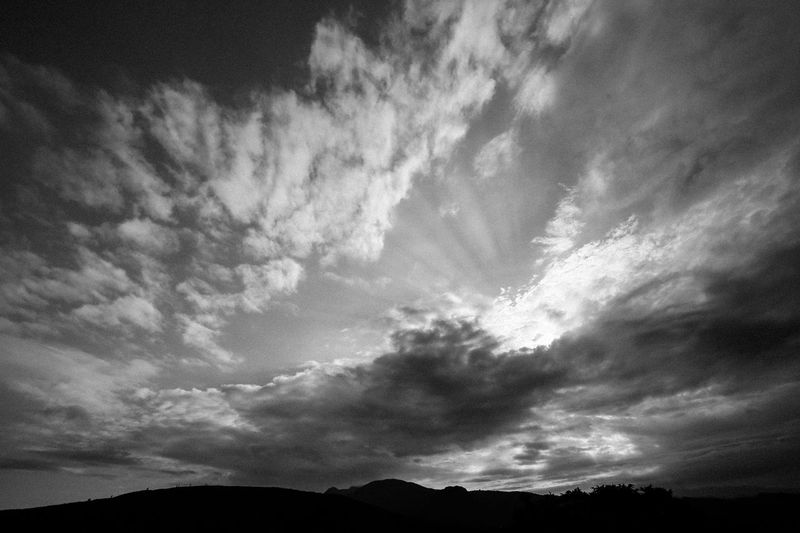 Sky Scenics Cloud - Sky Nature Beauty In Nature Tranquil Scene Silhouette Tranquility No People Low Angle View Outdoors Day