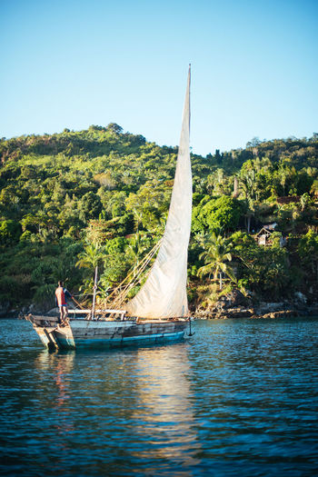 Adventures Nosy Be Adventure Beauty In Nature Boat Boat Life Leisure Activity Lifestyles Nautical Vessel Ocean Outdoors Sailboat Sailing Scenics - Nature Sea Ship Transportation Waterfront