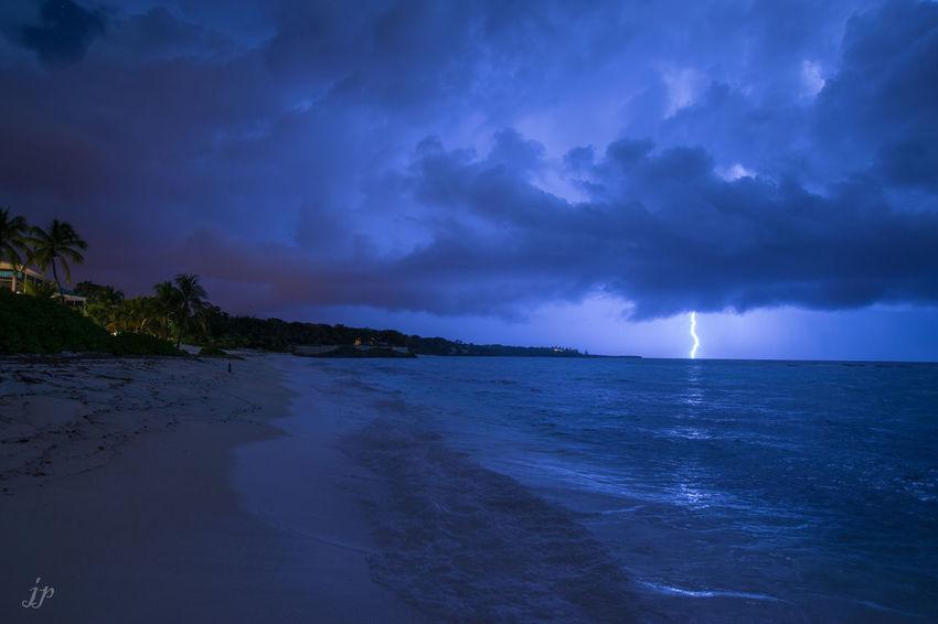 Landscape Skyporn Beach Lightning Storm