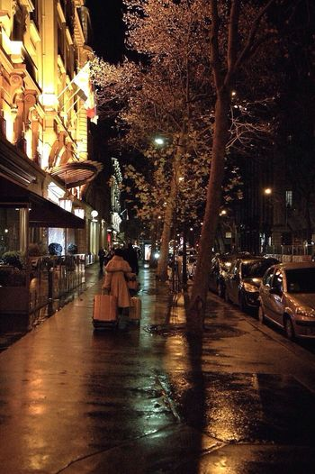 Streetphotography Snapshot Woman Coat Fur Lost Luggage Hotel Paris Grands Boulevards Winter