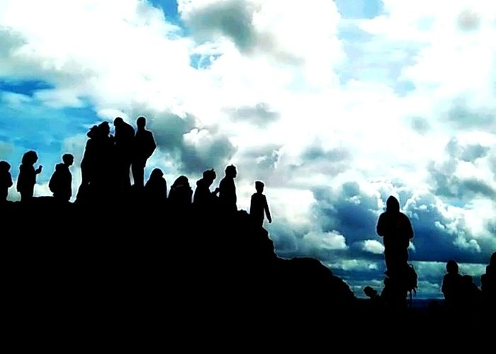 People or ravens? Arthur's Seat Shadows & Lights Sky Profile View People