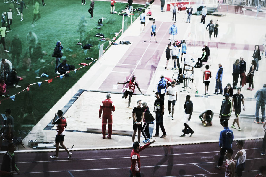 Competitions Double Exposure Group Of People Sport Stadium Atletic Need For Speed