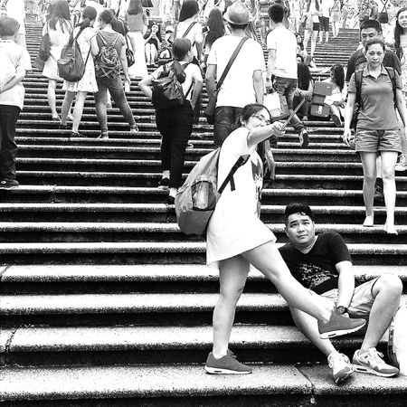 Selfie Photography Ruins Of St.Paul's 68 Steps Tourists Macau Landmark UNESCO World Heritage Site Travelphotography Streetphotography