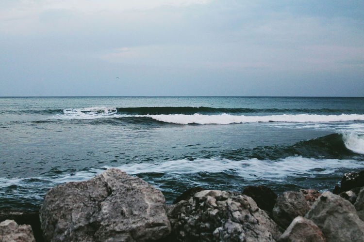 Beach Beauty In Nature Bulgaria Calm Cloud - Sky Horizon Horizon Over Water Nature Naturelovers Ocean Outdoors Rock - Object Rocky Scenics Sea Seascape Shore Sky Tourism Tranquility Vacations VSCO Water Wave Wave