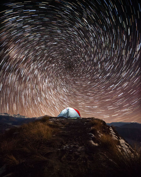 Wanaka Adventure Astronomy Beauty In Nature Environment Galaxy Long Exposure Motion Mountain Nature Night No People Royspeak Scenics - Nature Sky Space Star Star - Space Star Field Star Trail Startrails Tranquil Scene Tranquility