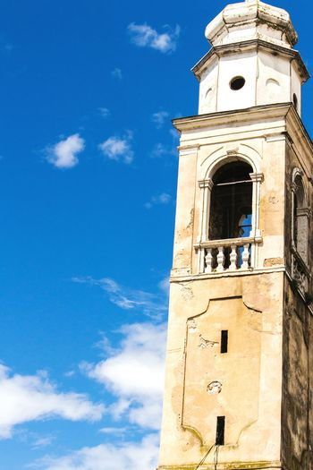 Church tower in Italy Church Tower Italy Blue Sky Lazise