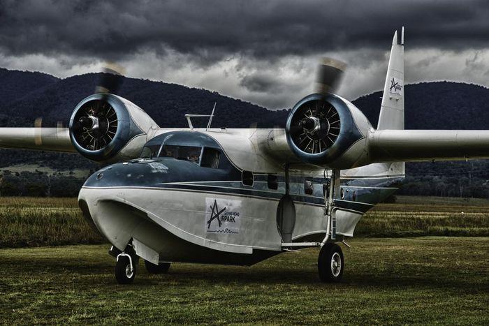 Mallard Seaplane Aviation Aviationphotography Flight Floatplane Flying Grumman Grumman Mallard Propellor Radial Undercarriage Wheels