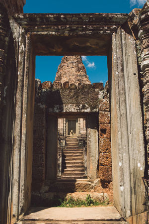 Siem Reap Cambodia Angkor Architecture Built Structure History The Past Ancient Old Day No People Ancient Civilization Old Ruin Staircase Direction Place Of Worship Building Damaged The Way Forward Travel Destinations Nature Sky Weathered Ruined Outdoors Archaeology Architectural Column Deterioration