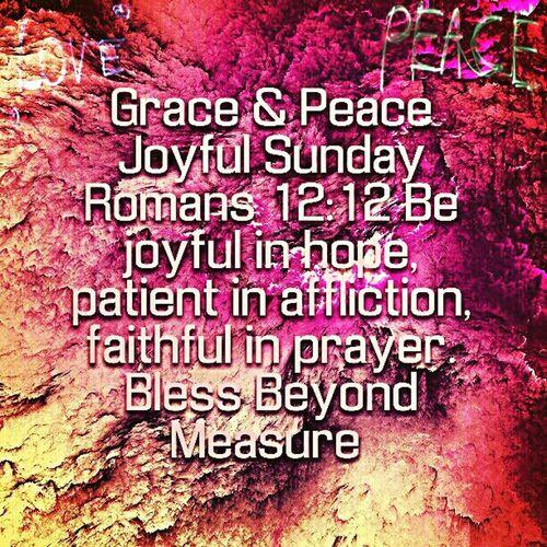 Grace & Peace Joyful Sunday