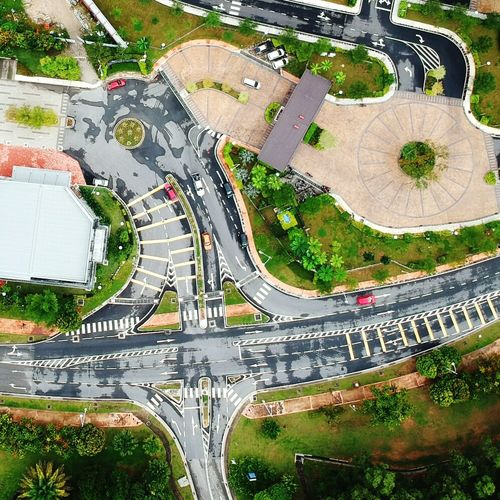 Cross road Aerial View High Angle View Tree No People Architecture Dji Spark NO FLY ZONE Dronephotography Quadcopter New Technology Gesture