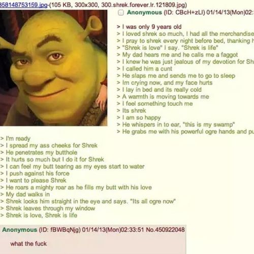 Its all orge now. *shrek flys out the window* shrek is love,shrek is life. Shrekisloveshrekislife Itsallogrenow Thisismyswamp