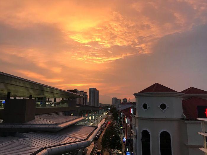 Architecture Built Structure Building Exterior Sunset Sky No People Cloud - Sky