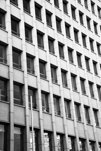 Architecture Built Structure Building Exterior Low Angle View Full Frame Day Window Backgrounds Outdoors No People City Façade Building Monochrome Photography Black & White Black And White Photography Monochrome _ Collection EyeEm Best Shots - Black + White Architectural Photography
