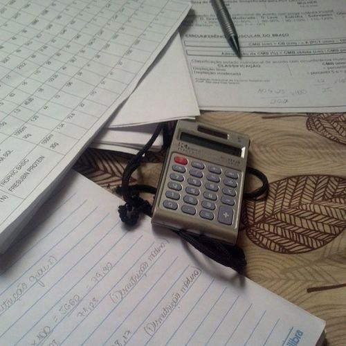 Manhã produtiva!! C álculos CL ínica Tne