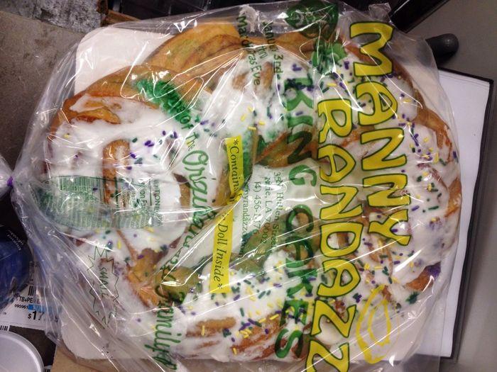 King Cake!! It's Mardi Gras Time! KingCake  NOLA Neworleans Mardi Gras Talking Pictures IPhoneography King Cake