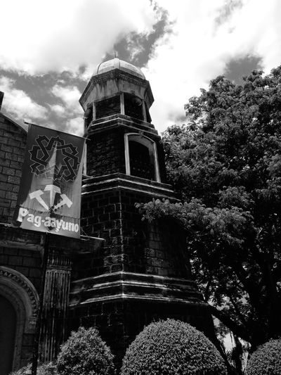 A place to talk to God Church Clouds And Sky Nature Black And White