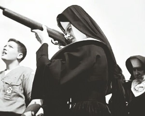 Head shoot.... Dangerous Mind  God, is Dead we kill it.. Blackandwhite Girls With Guns