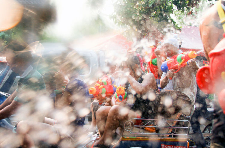 Sonkran in Chang mai thailand Chiang Mai   Thailand Fun Adult Celebration City Crowd Day Emotion Enjoyment Excitement Festival Fun Group Of People Happiness Large Group Of People Motion Outdoors Positive Emotion Real People Selective Focus Sonkran Festival Spectator Togetherness Water Fight Wet