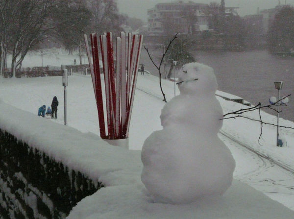 Snow Winter Ulm Danube